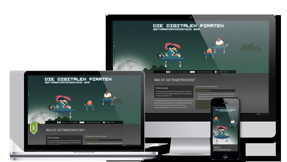 Darstellung der Webseite auf mobilen Geräten: Adobe – Die digitalen Piraten