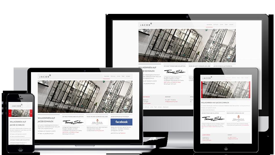 Darstellung der Webseite auf mobilen Geräten: Jacob Schmuck
