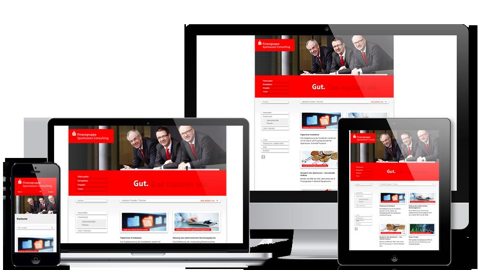Darstellung der Webseite auf mobilen Geräten: Sparkassen Consulting GmbH