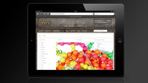 Vorschaubild: Pees GmbH – Webseite inkl. Webshop