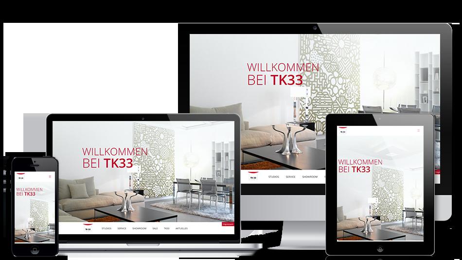 Darstellung der Webseite auf mobilen Geräten: TK33